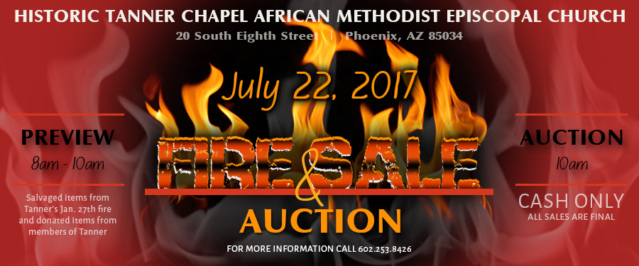 FIRE SALE AND AUCTION