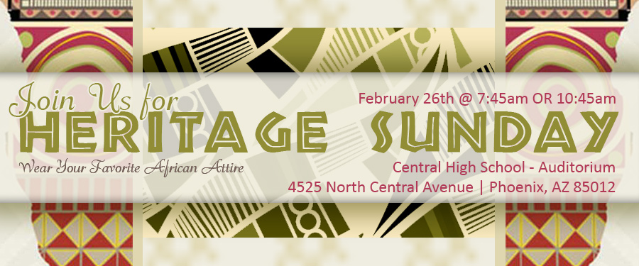 Join us for Heritage Sunday - February 26th