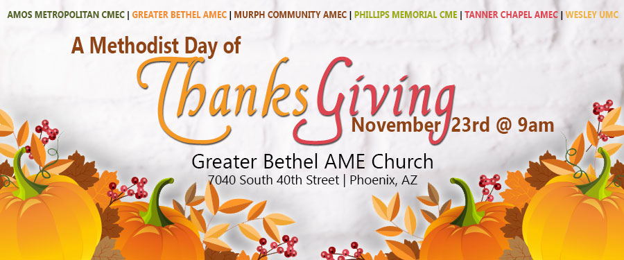 A Methodist Day of Thanksgiving