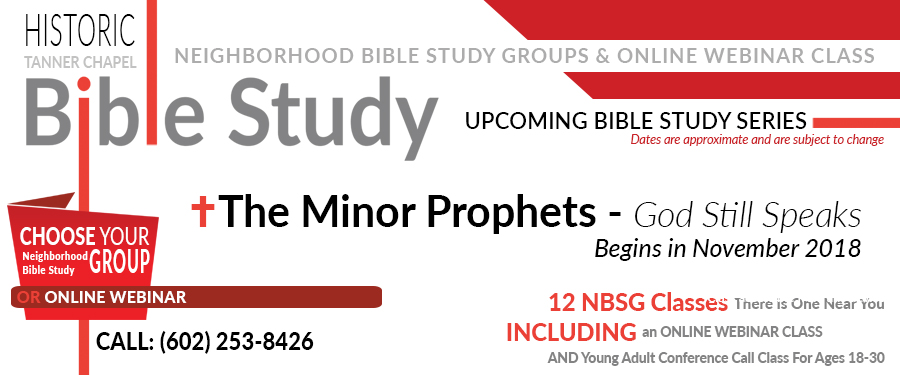 Tanner's Neighborhood Bible Study Upcoming Series