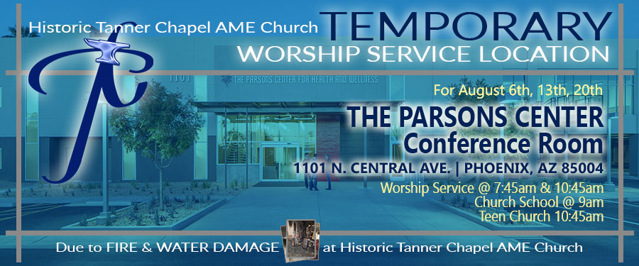 TEMPORARY WORSHIP SERVICE LOCATION