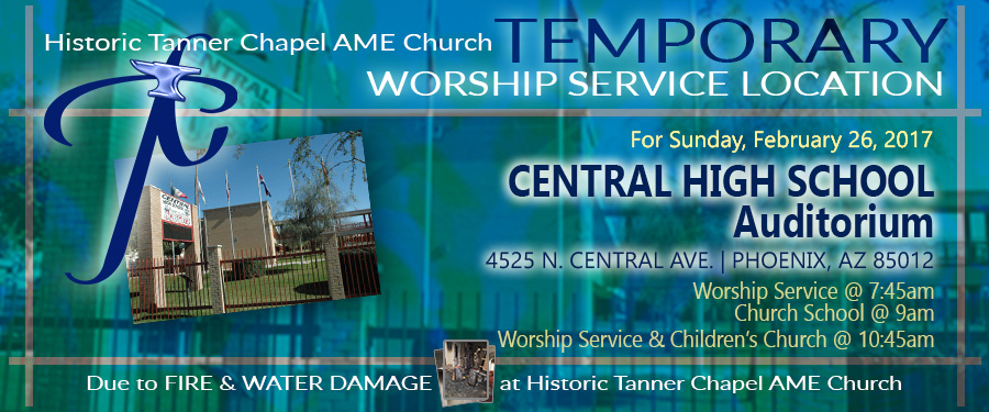 Tanner's Temporary Location for Worhsip Service